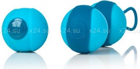 Вагинальные шарики дуэт stella ii со сменным грузом бирюзовые, фото 2