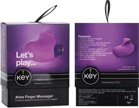 Вибратор на палец Key by Jopen - Aries - Lavender сиреневый, фото 5