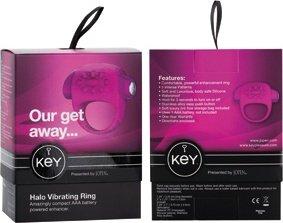 Вибратор-мини Key by Jopen - Halo - Raspberry Pink розовый, фото 5