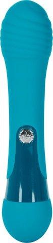 Вибромассажер рельефный virgo голубой, фото 3