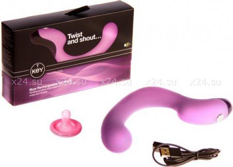 Вибратор для точки G Key by Jopen - Skye - Lavender фиолетовый 12 см
