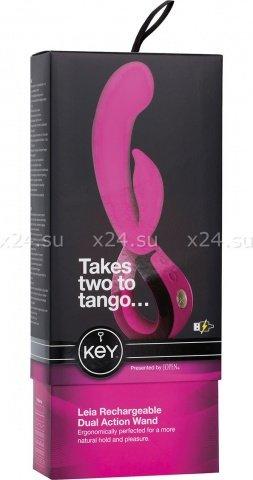 Вибратор с клиторальным стимулятором Key by Jopen - Leia - Lavender фиолетовый, фото 2