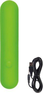 Мини-вибромассажер l2.5 lust by jopen перезаряжаемый зеленый, фото 4