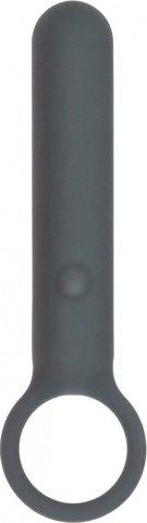 Мини-вибромассажер с кольцом lust by jopen 3,5 перзаряжаемый серый