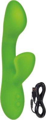 Вибромассажер хай-тек lust by jopen l17 перезаряжаемый зеленый, фото 3