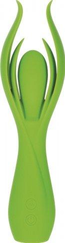Вибромассажер с двойными лепестками lust by jopen l7 перезаряжаемый зеленый
