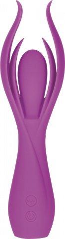Вибромассажер с двойными лепестками lust by jopen l7 перезаряжаемый фиолетовый