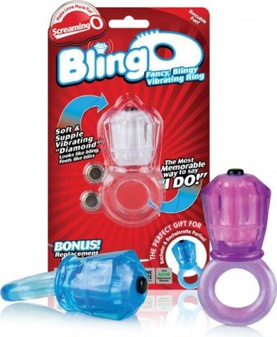 Вибро-кольцо на пенис с большим бриллиантом bling o