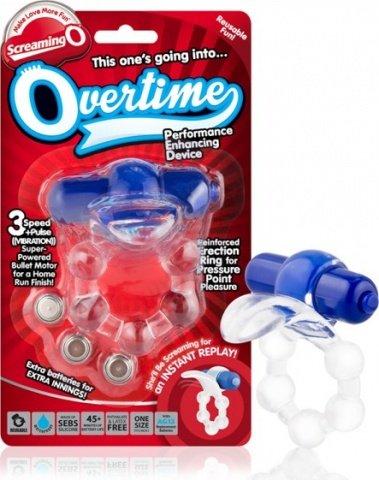 Вибро-кольцо с язычком и черным виброэлементом Overtime