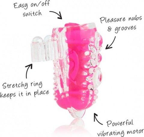 Розовое вибро-колечко на язык Ling O, фото 3