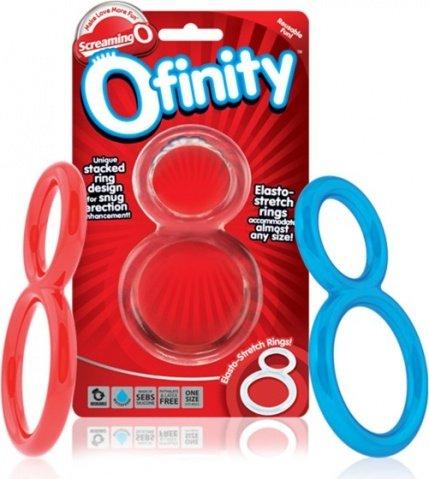 Красное двухпетельное кольцо ofinity