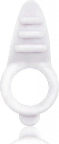 Белое кольцо на пенис с клиторальным стимулятором orbit, фото 3