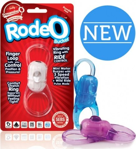 Голубое кольцо на пенис RodeO Bucker