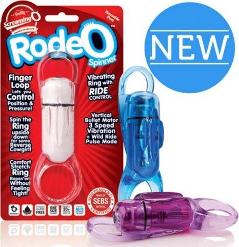 Фиолетовое кольцо на пенис RodeO Spinner