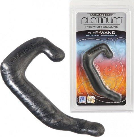 Фаллоимитатор для стимуляции простаты и мошонки platinum premium, силикон 13 см, фото 5