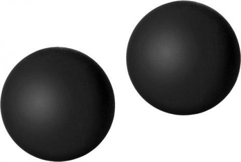 Силиконовые вагинальные шарики черные black rose, фото 2