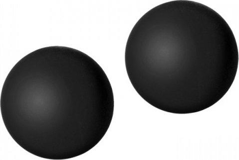 Силиконовые вагинальные шарики черные black rose, фото 5