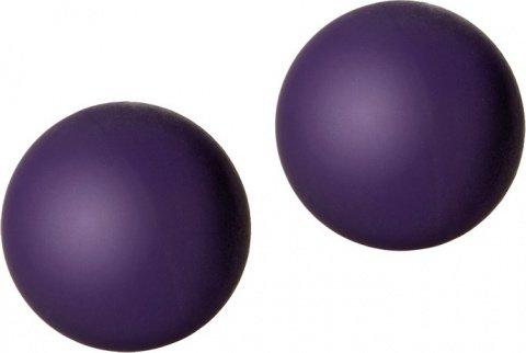 Вагинальные шарики металл затянутые в силиконовую оболочку (фиолетовые)