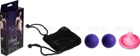 Вагинальные шарики металл затянутые в силиконовую оболочку (фиолетовые), фото 5