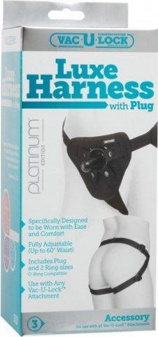 Трусики luxe harness black с насадкой 1090-10bxdj, фото 2
