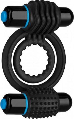 Кольцо эрекционное с двумя съемными вибропулями 9 см