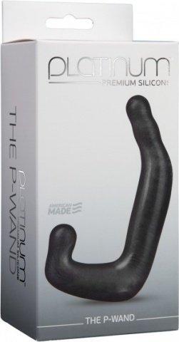 Фаллоимитатор для стимуляции простаты и мошонки Platinum Premium, силикон 13 см, фото 4