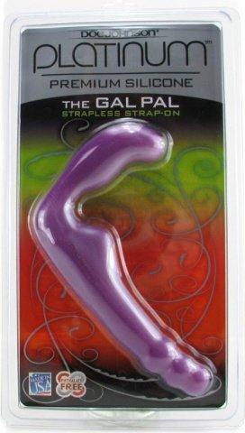 Безремневой страпон из силикона The Gal Pal 17 см, фото 5
