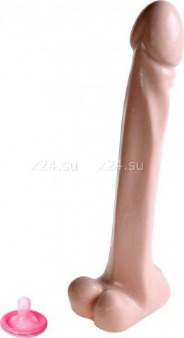 Фаллоимитатор с хребтом Destroyer телесный 30 см, фото 2