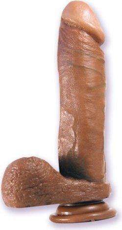 Фаллоимитатор-мулат с мошонкой 8in 22 см, фото 3