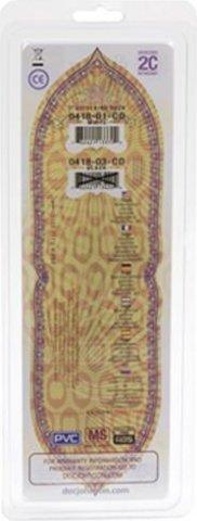 Вибратор с насадкой с силагелем 7in 18 см