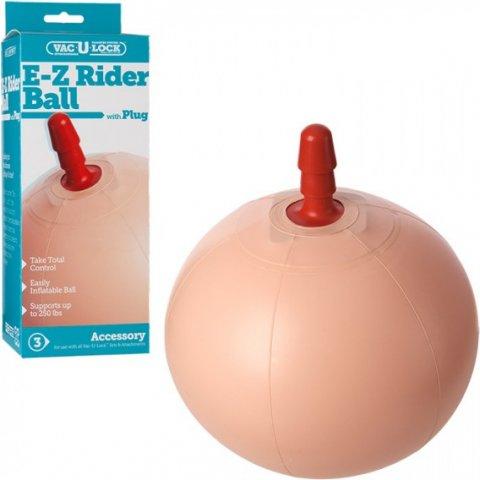 Надувной фитбол со штырьком для насадок vac-u-lock e-z rider ball with plug, фото 2
