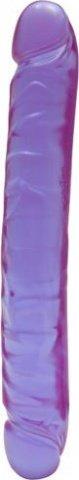 Фаллоимитатор двухголовый 12` фиол 29 см, фото 3