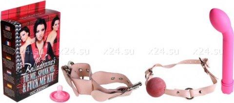Набор вибромассажер + наручники + кляп, фото 2