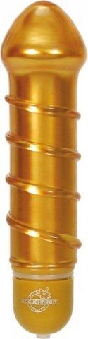 Золотой стеклянный вибратор Reflections Love 12 см