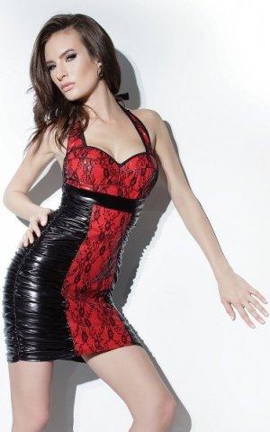Платье с лаковой вставкой, фото 2
