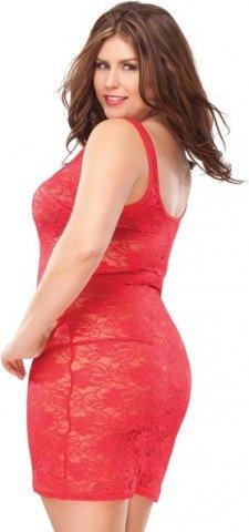 Платье из красного цветочного гипюра red heart, фото 3