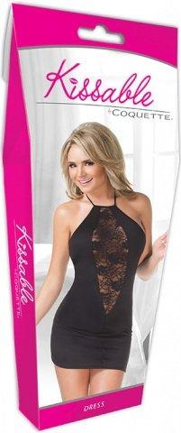 Черное платье с кружевной вставкой, фото 4