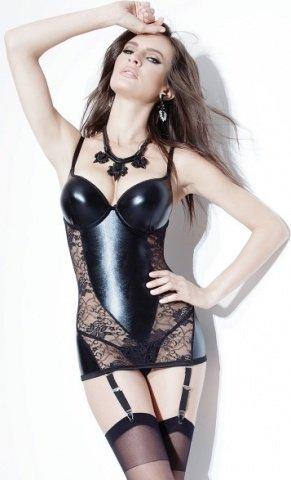 Черное платье с кружевом, фото 2
