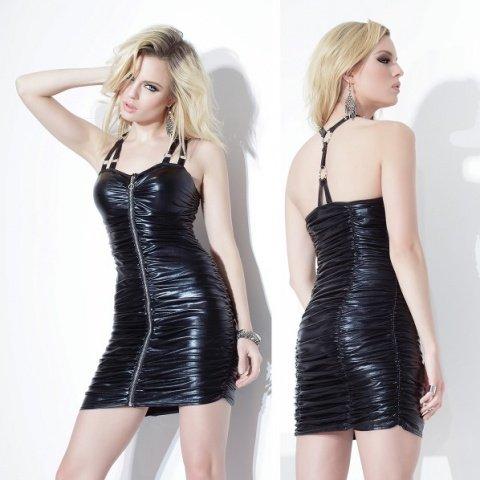 Платье черное с блеском