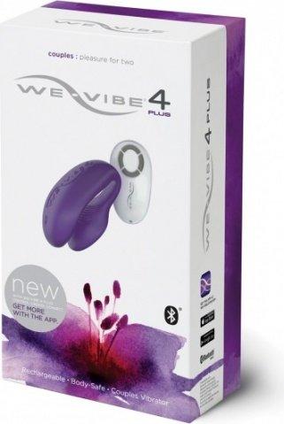 WE-Vibe 4 Plus (вивайб) Вибратор на радиоуправ. фиолетовый, фото 6