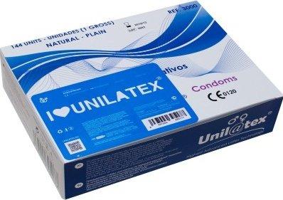Презервативы Unilatex Natural Plain гладкие классические (упаковка), фото 2