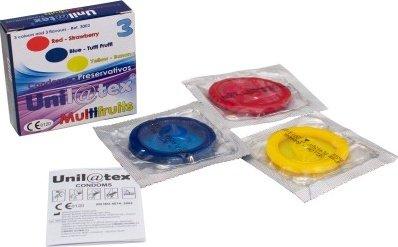 Презервативы Unilatex Multifrutis ароматизированные, цветные-ШТ, фото 2