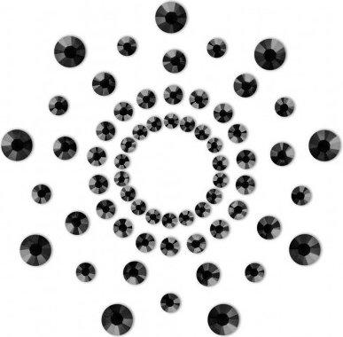 Наклейки на грудь Mimi Bijoux, цвет Черный