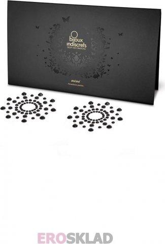 Наклейки на грудь Mimi Bijoux, цвет Черный, фото 2