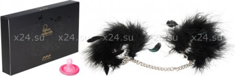 Перьевые наручники на цепочке Za Za Zu