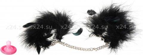 Перьевые наручники на цепочке Za Za Zu, фото 4