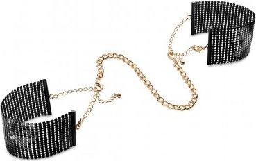 Дизайнерские наручники Desir Metallique Handcuffs Bijoux, цвет Черный 12 см