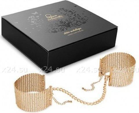 Дизайнерские наручники, цвет Золотой, фото 2