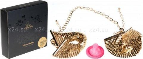 Дизайнерские наручники, цвет Золотой, фото 4