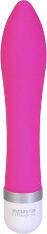 Обтекаемый ярко-розовый массажер silicone seduction, фото 2